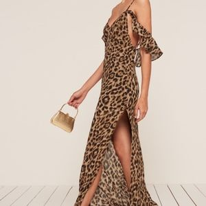 NEW Reformation Ferrara Dress in Cheetah